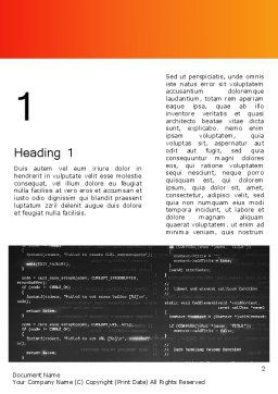 Source Code Word Template, First Inner Page, 12172, Technology, Science & Computers — PoweredTemplate.com