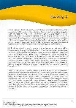 Simple Business Background Word Template, Second Inner Page, 12175, Business — PoweredTemplate.com