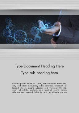 Business Machine Concept Word Template, Cover Page, 12181, Business Concepts — PoweredTemplate.com