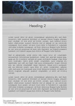 Business Machine Concept Word Template, Second Inner Page, 12181, Business Concepts — PoweredTemplate.com