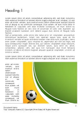 Soccer Theme Word Template, First Inner Page, 12182, Sports — PoweredTemplate.com
