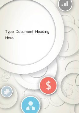 Circles and Icons Word Template, Cover Page, 12184, Business — PoweredTemplate.com