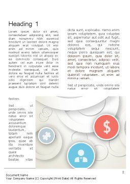 Circles and Icons Word Template, First Inner Page, 12184, Business — PoweredTemplate.com