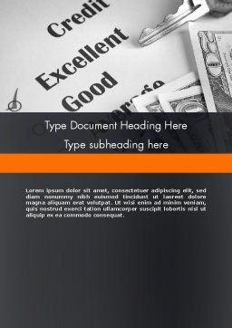 Credit Score Word Template, Cover Page, 12188, Financial/Accounting — PoweredTemplate.com