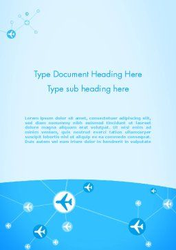 Airlines Theme Word Template, Cover Page, 12189, Cars/Transportation — PoweredTemplate.com