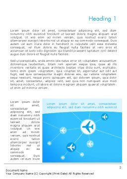 Airlines Theme Word Template, First Inner Page, 12189, Cars/Transportation — PoweredTemplate.com