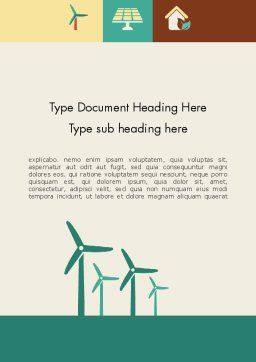 Renewable Energy Presentation Word Template, Cover Page, 12193, Technology, Science & Computers — PoweredTemplate.com