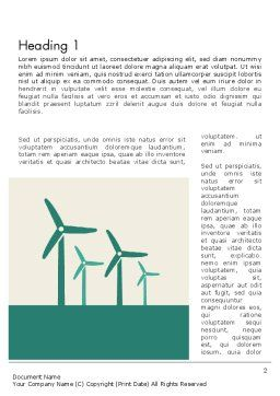 Renewable Energy Presentation Word Template, First Inner Page, 12193, Technology, Science & Computers — PoweredTemplate.com
