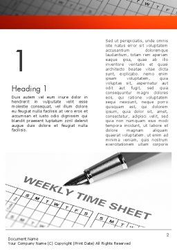 Time Tracking Sheet Word Template, First Inner Page, 12194, Business — PoweredTemplate.com