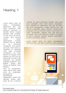Smartphone in Hand Word Template, First Inner Page, 12197, Technology, Science & Computers — PoweredTemplate.com