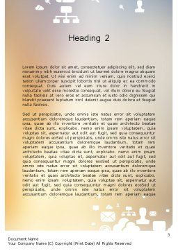 Smartphone in Hand Word Template, Second Inner Page, 12197, Technology, Science & Computers — PoweredTemplate.com
