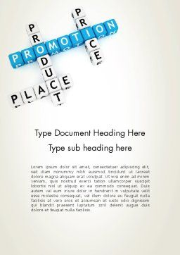 Promotion Strategy Word Template Cover Page