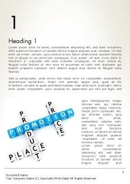 Promotion Strategy Word Template First Inner Page