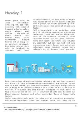 Mains Electricity Word Template First Inner Page