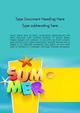 Summer Party Word Template, Cover Page, 12205, Holiday/Special Occasion — PoweredTemplate.com