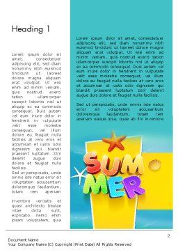 Summer Party Word Template, First Inner Page, 12205, Holiday/Special Occasion — PoweredTemplate.com