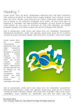 2014 Brazil World Cup Word Template, First Inner Page, 12216, Holiday/Special Occasion — PoweredTemplate.com