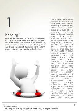 Drowning Man with Lifebuoy Word Template, First Inner Page, 12221, Consulting — PoweredTemplate.com