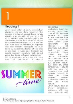 Summer Disco Theme Word Template, First Inner Page, 12224, Holiday/Special Occasion — PoweredTemplate.com