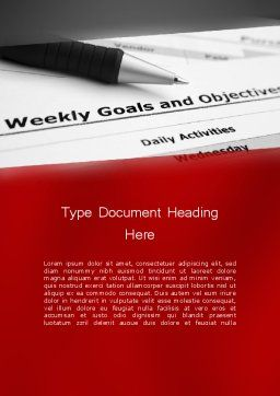 Goals and Objectives Word Template, Cover Page, 12227, Education & Training — PoweredTemplate.com