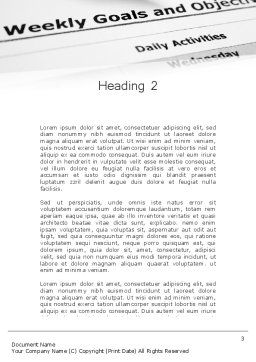 Goals and Objectives Word Template, Second Inner Page, 12227, Education & Training — PoweredTemplate.com