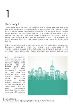 City Silhouette Word Template, First Inner Page, 12236, Construction — PoweredTemplate.com