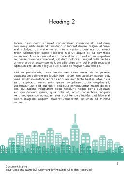 City Silhouette Word Template, Second Inner Page, 12236, Construction — PoweredTemplate.com