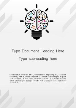 Creative Brain Word Template Cover Page