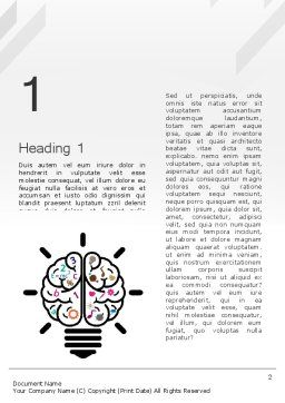 Creative Brain Word Template First Inner Page