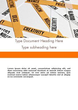 Paper Strips with Project Related Words Word Template, Cover Page, 12239, Business Concepts — PoweredTemplate.com