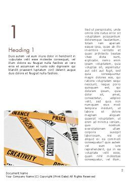 Paper Strips with Project Related Words Word Template, First Inner Page, 12239, Business Concepts — PoweredTemplate.com