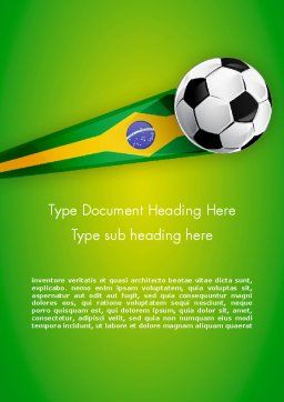 Brazilian Football Word Template, Cover Page, 12240, Sports — PoweredTemplate.com