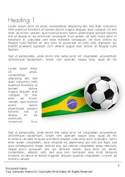 Brazilian Football Word Template, First Inner Page, 12240, Sports — PoweredTemplate.com