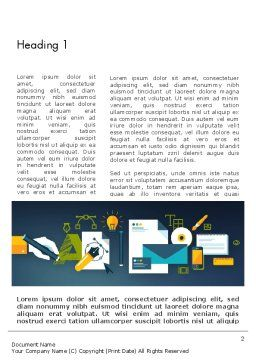 Branding Agency Word Template, First Inner Page, 12242, Careers/Industry — PoweredTemplate.com
