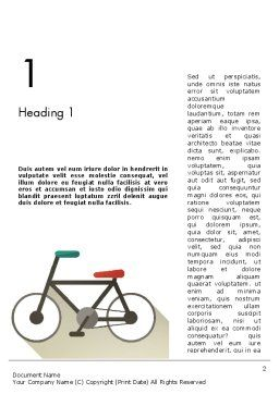 Bicycle Flat Icon Word Template, First Inner Page, 12243, Sports — PoweredTemplate.com