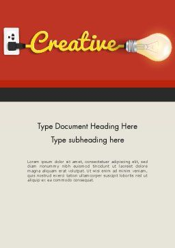 Creative Content Ideas Word Template Cover Page
