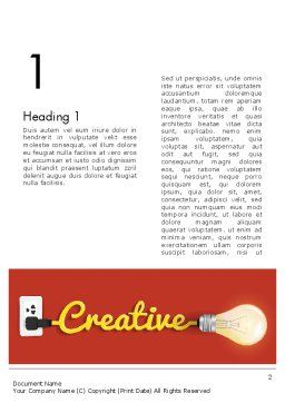 Creative Content Ideas Word Template, First Inner Page, 12244, Careers/Industry — PoweredTemplate.com