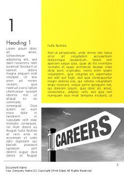 Careers Sign Word Template, First Inner Page, 12253, Careers/Industry — PoweredTemplate.com