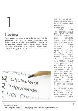 High Cholesterol Word Template, First Inner Page, 12255, Medical — PoweredTemplate.com