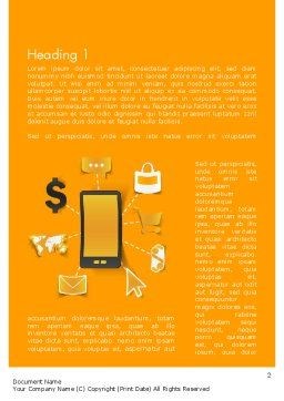 Mobile Solutions Word Template, First Inner Page, 12259, Technology, Science & Computers — PoweredTemplate.com