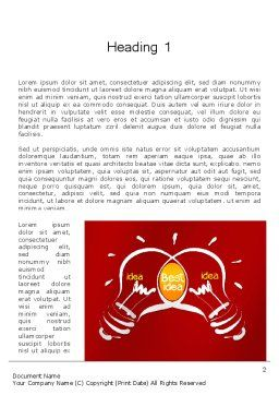 Best Idea Creation Word Template, First Inner Page, 12260, Business Concepts — PoweredTemplate.com