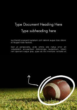 Super Bowl Party Word Template, Cover Page, 12262, Sports — PoweredTemplate.com