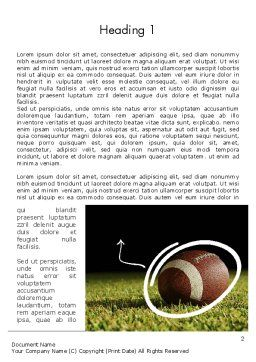 Super Bowl Party Word Template, First Inner Page, 12262, Sports — PoweredTemplate.com