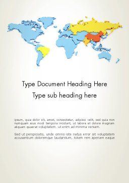 BRIC Countries Word Template Cover Page
