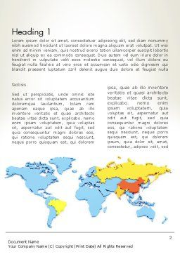 BRIC Countries Word Template First Inner Page