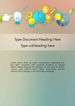 From Idea to Project Launch Word Template, Cover Page, 12266, Business Concepts — PoweredTemplate.com