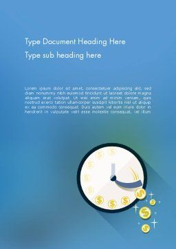 Available Time Word Template, Cover Page, 12270, Business Concepts — PoweredTemplate.com