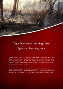 Effects of Forest Fire Word Template Cover Page