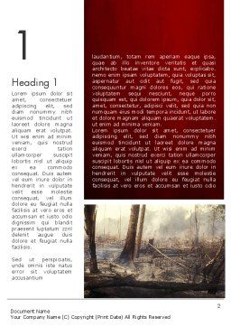 Effects of Forest Fire Word Template First Inner Page