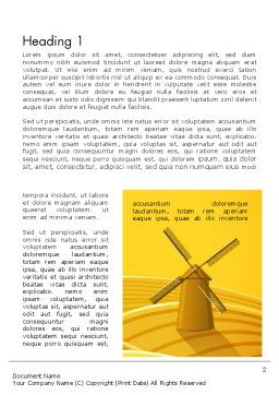 Windmills Word Template, First Inner Page, 12273, Agriculture and Animals — PoweredTemplate.com